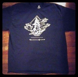 Black Samurai Punk Shirt by Custom Ink  L - XL